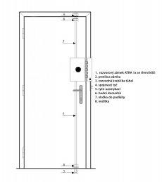 3 bodový trezorový zámek ATRA