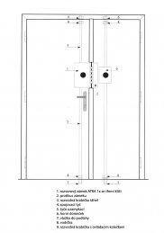 3+2 bodový trezorový zámek ATRA