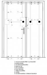 5+4 bodový trezorový zámek ATRA